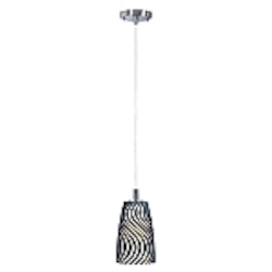 Carte Collection Contemporary Satin Nickel finish G9 Light Mini Pendant - E91141-51