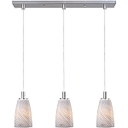 Carte Collection Contemporary Satin Nickel finish Multi Pendant with an Incandescent Bulb - E92143-39