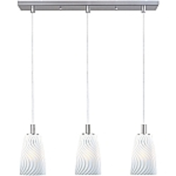 Carte Collection Contemporary Satin Nickel finish Multi Pendant with an Incandescent Bulb - E92143-41