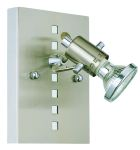 "Fizz Collection 1 Light 6"" Matte Nickel & Chrome Wall Light 82242A"