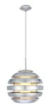 "Mercur Collection 1-Light 14"" Brushed Aluminum Pendant Light 88294A"