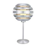 "Mercur Collection 1-Light 13"" Brushed Aluminum Table Lamp 88297A"