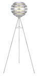 "Mercur Collection 1-Light 24"" Brushed Aluminum Floor Lamp 88298A"