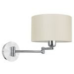 "Halva Collection 1-Light 24"" Brushed Aluminum & Chrome Wall Light 88563A"