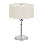 "Halva Collection 1-Light 15"" Brushed Aluminum & Chrome Table Lamp 88564A"