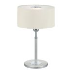 "Halva Collection 1-Light 19"" Brushed Aluminum & Chrome Table Lamp 88565A"