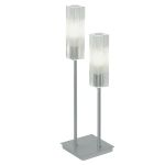 "Alessa Collection 2 Light 17"" Matte Nickel Table Lamp 88851A"