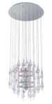 "Alexandria Collection 12 Light 20"" Chrome Chandelier 89005A"
