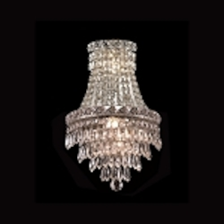 "Invisible Design 3-Light 17"" Chrome or Gold Wall Sconce with European or Swarovski Crystals SKU# 10374"