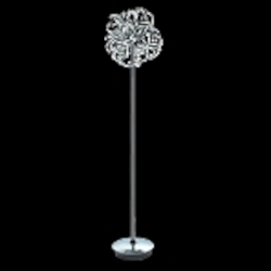 "Tiffany Collection 9-Light 67"" Chrome Crystal Floor Lamp 2068FL15C/RC"