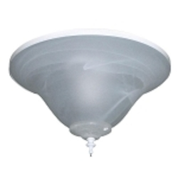 All Weather White Ceiling Fan Bowl Light Kit with Alabaster Swirl Glass ELK113-2WW-W