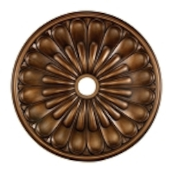 "Melon Reed Collection 32"" Antique Bronze Ceiling Medallion M1009AB"