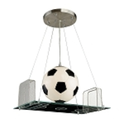 "Kid's Lighting Novelty Collection 1-Light 21"" Soccer Field Pendant 5134/1"