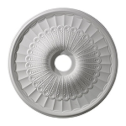 "Hillspire Collection 24"" White Ceiling Medallion M1007WH"