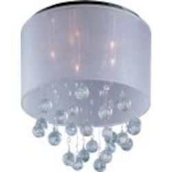 "Veil Collection 5-Light 15"" Polished Chrome Flush Mount E22380-120PC"