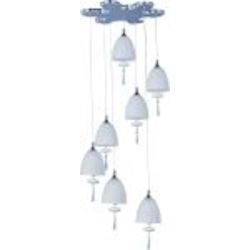 "Chute Collection 7-Light 15"" Polished Chrome Pendant and Matte White Glass E24356-11PC"