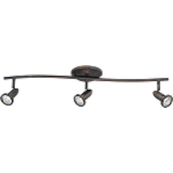 "Agron Collection 3-Light 27"" Bronze Flush Mount E30013-10"