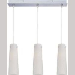 Satin Nickel / White Spiral Glass 3 Light 24.25in. Wide RapidJack Pendant and Canopy from the Spiral Collection