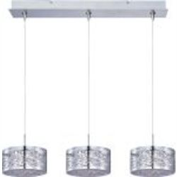 "Minx Collection 3-Light 7"" Polished Chrome Linear Pendant E94845-10PC"