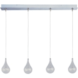 Satin Nickel 4 Light 4.5in. Wide Pendant from the Larmes Collection