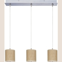 "Elements Collection 3-Light 24.5"" Satin Nickel Linear Pendant E95497-101SN"