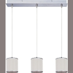 "Elements Collection 3-Light 24.5"" Satin Nickel Linear Pendant E95497-102SN"