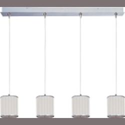 "Elements Collection 4-Light 34.5"" Satin Nickel Linear Pendant E95499-102SN"