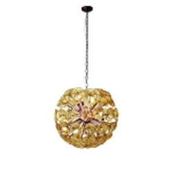 Amber Murano 20 Light 23in. Wide Pendant from the Lalique Collection