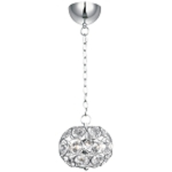 "Brilliant Collection 3-Light 8"" Oval Crystal Pendant E24010-20PC"