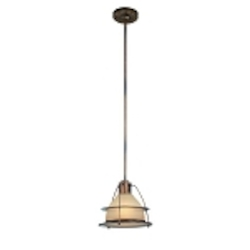"Bristol Bay Collection 1-Light 10"" Sunset Bronze Energy Saving Mini Pendant with Light Amber Glass FF2057SBZ"
