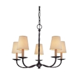 "Alexander Collection 5-Light 26"" English Iron Chandelier F2665"