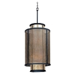 "Copper Mountain Collection 8-Light 37"" Bronze Mica Pendant F3104"