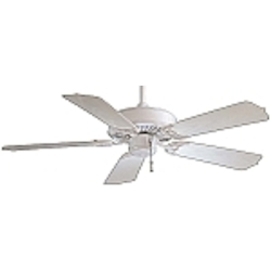 White 5 Blade 42In. Indoor / Outdoor Energy Star Ceiling Fan - Blades Included