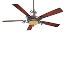 "Napoli 68"" Sterling Walnut Ceiling Fan with Aged Champagne Light Kit F715-STW"