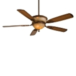 Illuminati Bronze 5 Blade 60In. Ceiling Fan - Light, Wall Control And Blades Included