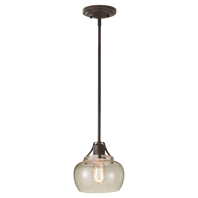 "Murray Feiss P1234ri: Urban Renewal Collection 1-Light 8"" Rustic Iron Mini"
