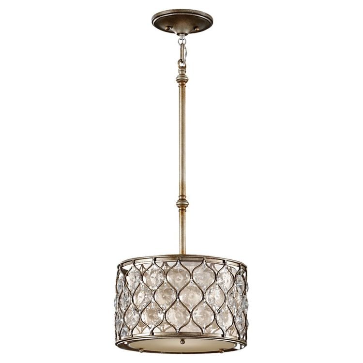 lucia collection 1 light 12 quot burnished silver drum