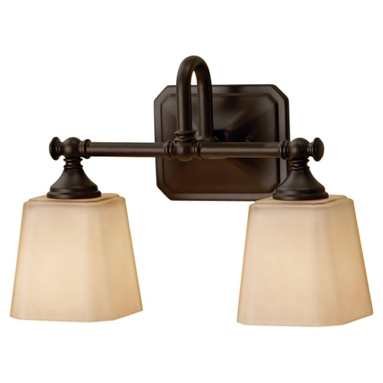 Vanity Lights For Bathroom Bronze : Concord Collection 2-Light 14
