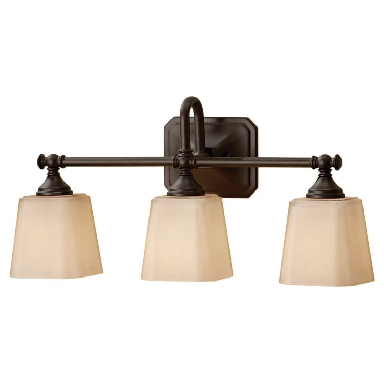 Vanity Lights For Bathroom Bronze : Concord Collection 3-Light 21