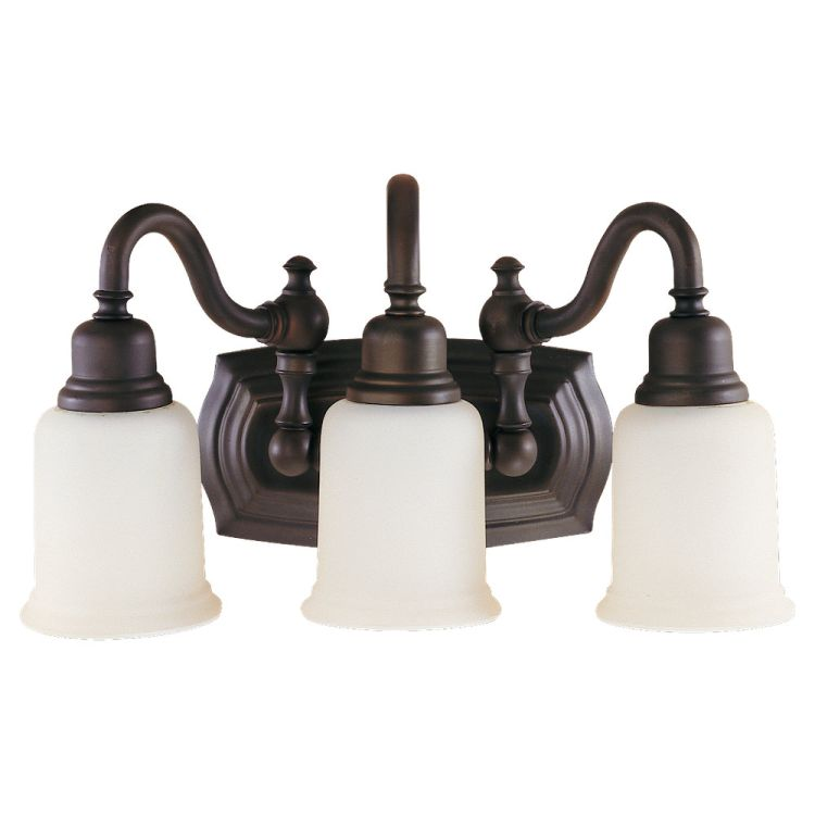 Vanity Lights Oil Rubbed Bronze : Canterbury Collection 3-Light 18