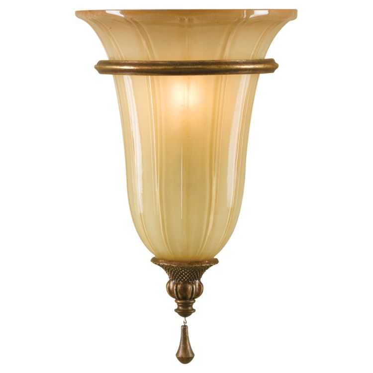 Blown Glass Wall Sconces Lighting : Celine Collection 1-Light 8