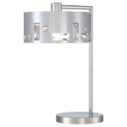 "Bling Bang Collection 1-Light 19"" Chrome Table Lamp with Crystal Accents P1082-077"