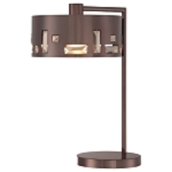 Chocolate Chrome 1 Light Table Lamp in Chocolate Chrome from the Bling Bang Collection