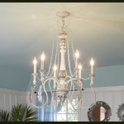 "Zoe Collection 9-Light 39"" Antique Linen Chandelier 27329-ATL"