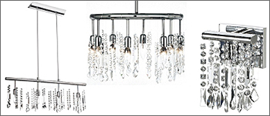 Crystal Fusion Lighting Collection by Joshua Marshal