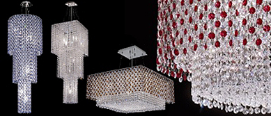 Crystal Tower Lighting Collection by Joshua Marshal