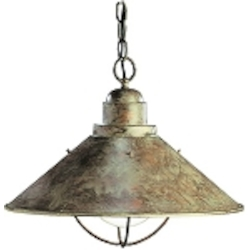"Seaside Collection 1-Light 16"" Olde Brick Outdoor Hanging Pendant 2713OB"