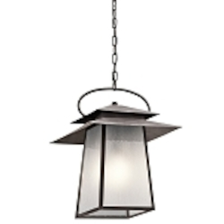 Kichler One Light Weathered Zinc Hanging Lantern - 49535WZC