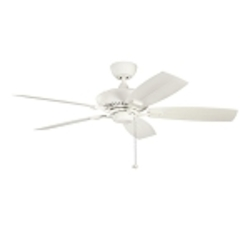 "Canfield Patio Collection 52"" Satin Natural White Outdoor Ceiling Fan 310192SNW"