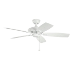 "Canfield Patio Collection 52"" White Outdoor Ceiling Fan 310192WH"